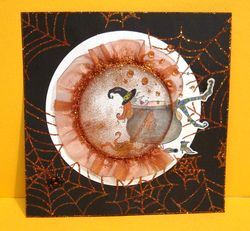 Bernadette Tolley - Halloween Shaker Card