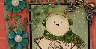 Snowman peek