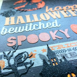 Halloween clipboard art sample by Daniela Dobson