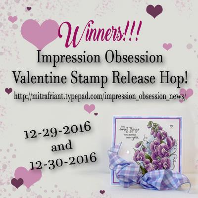 Valentine hop winners