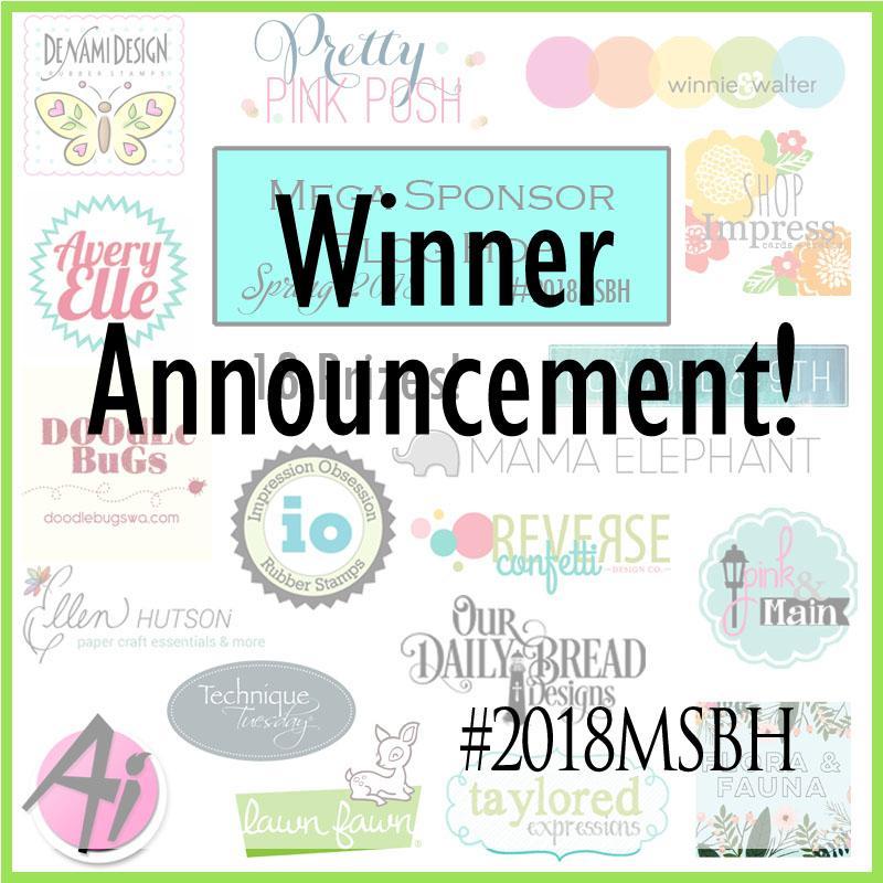 Winner Announcement 2018 Mega Sponsor Blog Hop