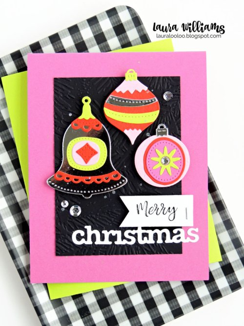 Laura Williams Merry Christmas Ornaments Card Impression Obsession 2 WM