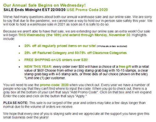 Sale info